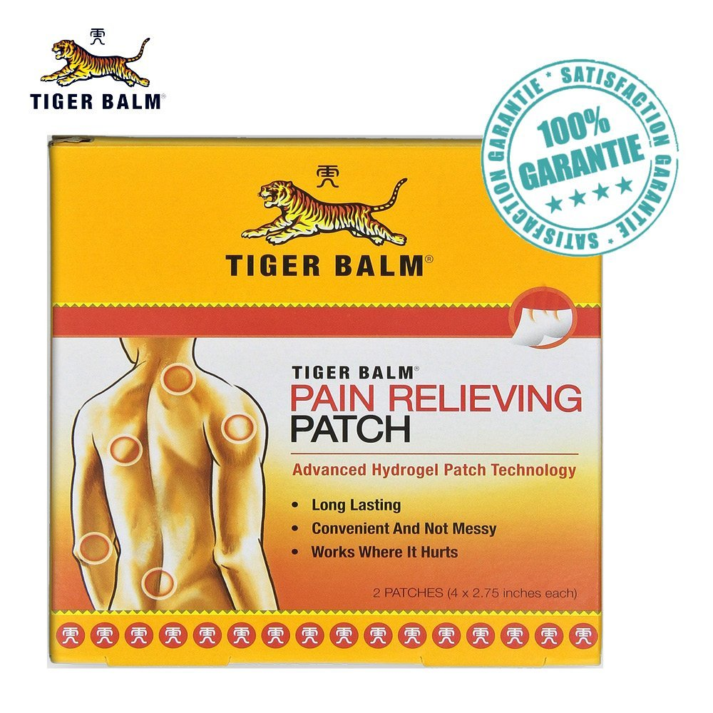 tiger balm patch soulage et apaise les courbatures